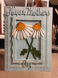 Handmade Greetings Card Daisies for Mothers Day by PaperPiffles