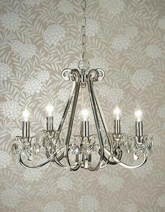 Zest Lighting - Luxuria 5 Light Candle Chandelier, $659.00 (http://www.zestlighting.com.au/luxuria-5-light-candle-chandelier/)