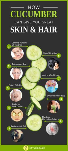 Do you know that cucumber have water content? Read more to know about interesting facts & benefits of cucumber along with nutrition value. Cucumber For Skin, Cucumber Detox Water, Cucumber Health Benefits, Clear Skin Diet, Reduce Hair Fall, Reduce Dark Circles, Skin Care Tips, Healthy Skin, Bodies