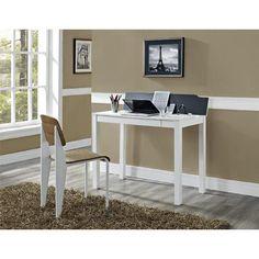 Dorel Home Furnishings White Parsons Style Flip- Up Desk - Furniture & Mattresses - Home Office Furniture - Desks