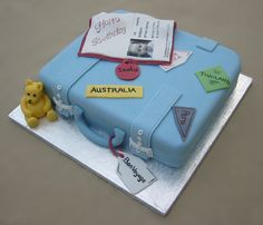 Suitcase cake by Barbara Lee