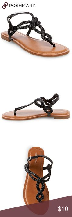 Women's Jana Quarter Strap Sandals Size 7.5 Wide Slip into chic, boho style with these Women's Jana Quarter Strap Sandals in Merona™. With a braided thong strap and sturdy design, these women's sandals are perfect for stylish summer days. Merona Shoes Sandals