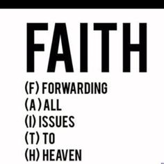 FAITH: Love this..