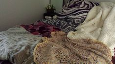 Display of some of my blankets and rugs I have crochet