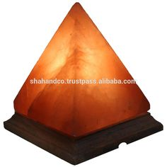 "Pyramid Salt Lamp Himalayan Rock Pyramid Salt Lamps Negative Ions Generator Size 7"" x 6"" x 6"" Air Purifier"