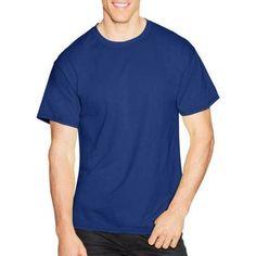 Hanes Men's Short Sleeve EcoSmart T-shirt (4-pack), Size: Medium, Blue