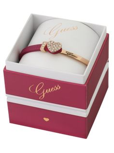 Guess leather heart bangle available at Guess by Marciano Marina Mirage (07) 5532 6843 www.marinamirage.com.au