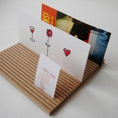 Ablagen - Postkartenständer 21x21 - ein Designerstück von kittyfix-SHOP bei DaWanda