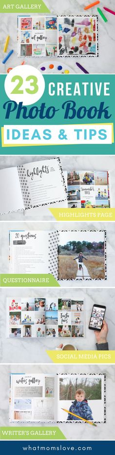 Creative yearly family photo book ideas | Include tips for how to make your own personalized annual yearbook with tutorials for layout, design and best website to use. Plus yearly interview questions to ask your children | These make great gifts and are awesome keepsakes for your kids!