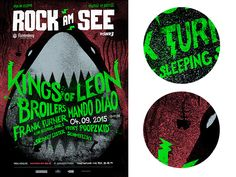 ROCK AM SEE 2015 - Poster by Lars Trautmann  •  upstruct