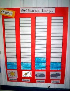 Estado del tiempo con gráfico de barras Go Math, Math For Kids, Spanish Teaching Resources, Teaching Math, Teacher Binder, Classroom Language, 2nd Grade Math, Learning Through Play, First Day Of School