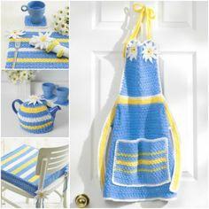 Crochet Daisy Kitchen Set: FREE crochet patterns