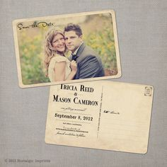 Vintage save the date #wedding