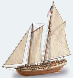 Pre-Built Model Watercraft - Latina 141 Virginia American Schooner LAT22135 -- Want to know more, click on the image.