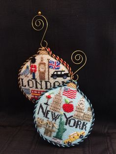 Travel ornaments ~ Canvases by Kirk&Bradley