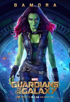 Zoe Saldana como Gamora en #GuardiansoftheGalaxy