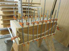 bent plywood veneer press