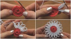 Crochet Flower Motif Step by Step - Tutorial