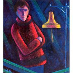 Werner Berg Nachts vor der Schaukel 1968 Berg, Expressionism, Symbols, Painting, Woodblock Print, Art Pieces, Painting Art, Drawing S, Pictures