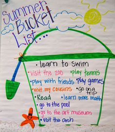 End of the School Year: Summer Bucket List: Bits of First Grade End Of School Year, Summer School, School Fun, School Days, School Holidays, Classroom Fun, Classroom Activities, Classroom Helpers, End Of Year Activities