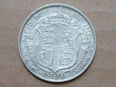 Inglaterra - half crown moeda de prata do ano 1911.