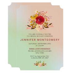 #invitations #wedding #bridalshower - #Pretty Floral Wildflowers Bridal Shower Invite