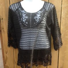Plus Size Umgee Crotched top Brand new never worn Umgee Tops Blouses