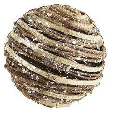 """Rattan Vine Glitter Sphere, 4"""" diameter, $1.95."""