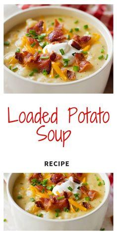 Slow Cooker Potato Soup, Loaded Baked Potato Soup, Cheesy Potato Soup, Paula Deen Potato Soup, Crock Pot Potato Soup, Broccoli Potato Cheese Soup, Easy Soup Recipes, Chicken Recipes, Healthy Recipes