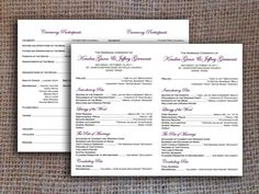 Catholic Wedding Program Digital File 2 per Page by KitsyCo, $12.00