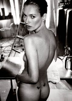 "Kate Moss by Annie Leibovitz. ""Aroused by spring, they are soft as cream."" Chao Luan-Luan www.goachi.com"