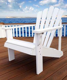 White Westport Classic Oversize Adirondack Chair