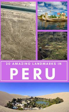 20 Incredible Landmarks in Peru. Peru, in western South America, is a diverse and ancient country. Once the home of the Inca, who left behind incredible cities within dense jungle and at unbelievable heights, Peru still holds festivals celebrating ancient rites and traditions. The most famous landmark in Peru is Machu Picchu, which is also one of the most visited landmarks in South America. #peru #southamerica #machupicchu #travel South America Destinations, South America Travel, Travel Destinations, Peru Travel, Travel Usa, Travel Tips, Travel Advice, Travel Guides, Lake Titicaca