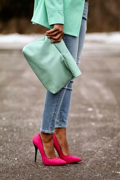 Pastels for Spring: Blogger Inspiration - Monochrome with a Pop of Neon