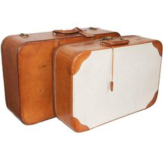 Great Hermes suitcases c.1960 | From a collection of rare vintage luggage and travel bags at https://www.1stdibs.com/fashion/handbags-purses-bags/luggage-travel-bags/