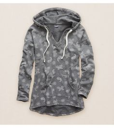 True Black Aerie Drawstring Popover - Layer this too-cute hoodie over everything! #Aerie