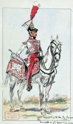 Trumpeter 1 Cavalry Regiment-Imperial Guard Lancers in uniform near. Fig. E. Fort.