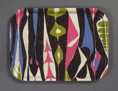 "Tray in ""Bulbous"" print by Stig Lindberg 1947. Print on cotton for NK Textile Design Studio."