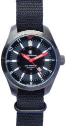 Smith & Wesson SWW-1864T Military Tritium Watch with Coated Brass Case and 3-Interchangeable Straps, Black