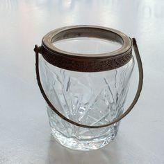 kristallinen jääpala-astia 1920-luvulta