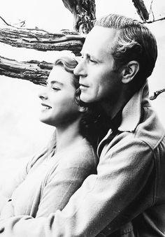 Ingrid Bergman and Leslie Howard