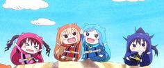 Umaru Red, Kirie Black, Sylphin Blue, y Ebina Pink