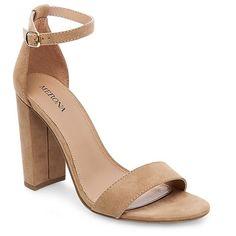 Women's Lulu Wide Width High Block Heel Sandal Pumps with Ankle Straps - Merona™ : Target #target #targetmademedoit