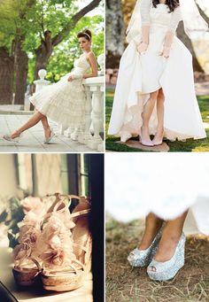 bride in wedges