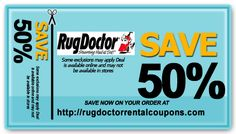Rug Doctor Al Coupons 2016