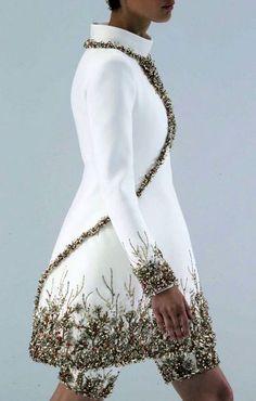 Coat - Jas wit met goud