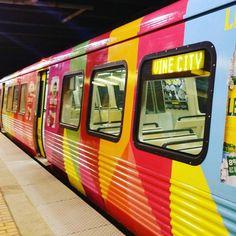 Rainbow MARTA train! #atlanta #marta #rainbows