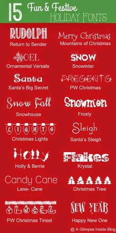 A Glimpse Inside: 22 FREE Holiday Fonts, Graphics, and Dingbats