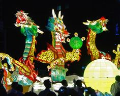 Buddha's B'day Celebration, Lotus Lantern Parade, Dragon Float, Seoul, S.