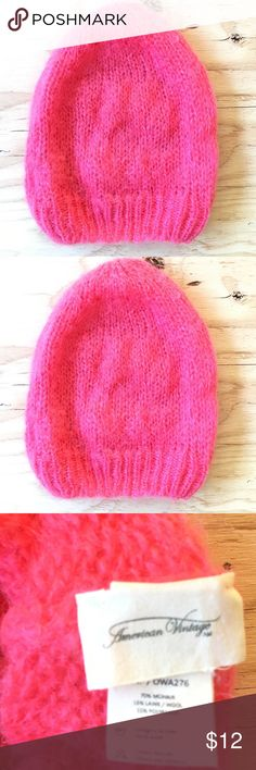 American Vintage Pink Hat This hat is soft pretty and pink 10 in long American Vintage Accessories Hats
